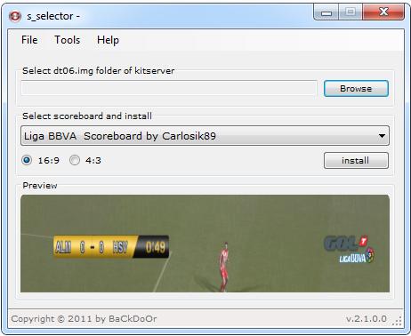 Scoreboard Selector For PES 2011 v2.1 by BaCkDoOr