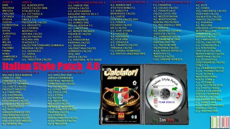 pes 2011 Italian Style Patch 2011 by Ian Ray78  v4.0