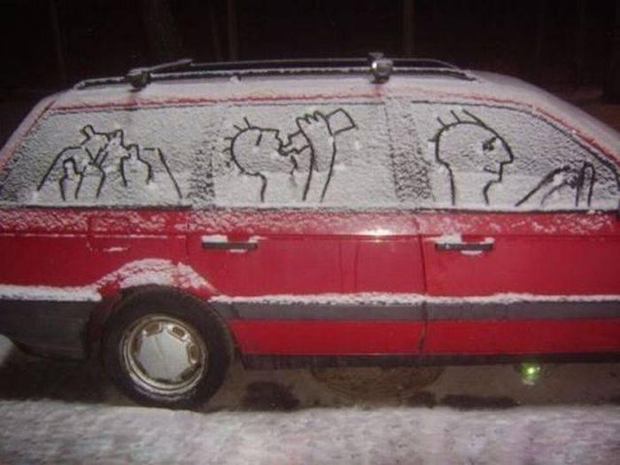 Подборка прикольных картинок про авто (20 фото)