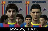 pes 2011 Barcelona F.C Mini Face Patch By DracheN