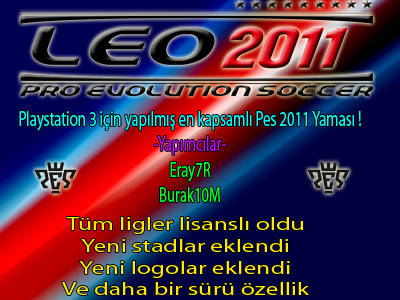 PES 2011 PS3 Leo Patch by Eray7R & Burak10M