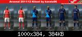 pes 2011 Arsenal Londyn 2011/12 Kitset by karata96