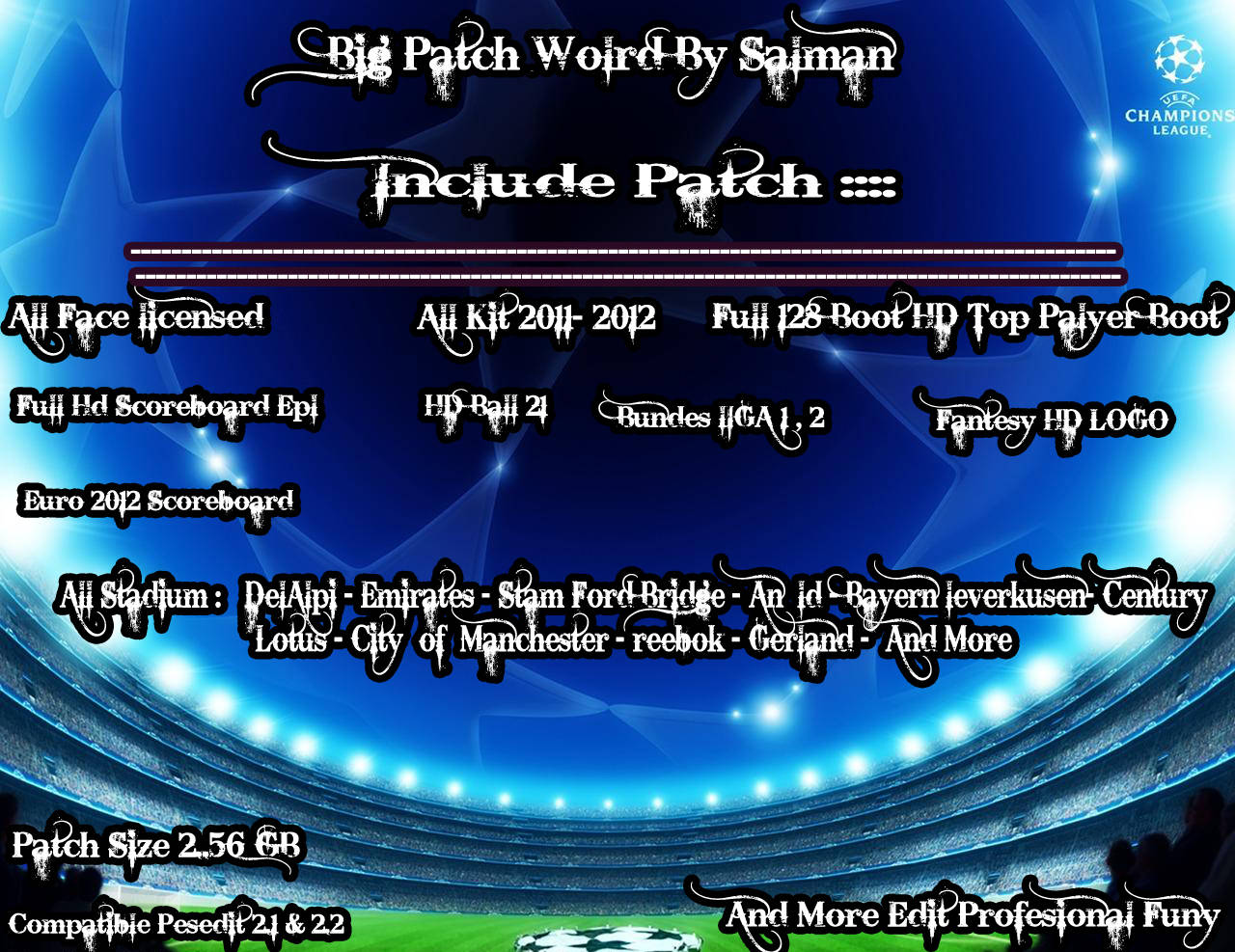 Big Patch World Cooming Soon