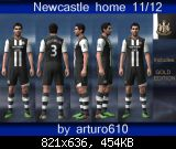 pes 2011 Newcastle home kit 11/12 by arturo610