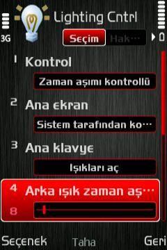 Light Control v1.51 s60v3 SymbianOs9.x Türkçe Versiyon