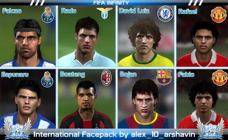 Лица для фифа 11: Лица для фифа 11: Скачать: International Facepack by alex