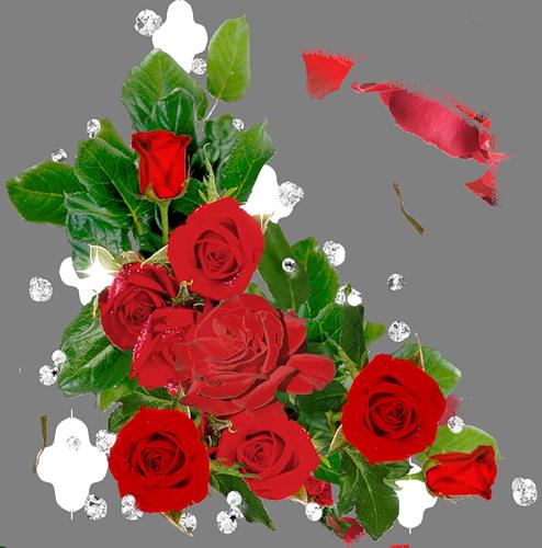 Цветы в открытку угловые