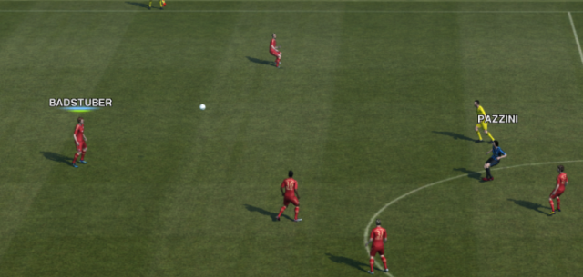 PES 2012 No ball cursor