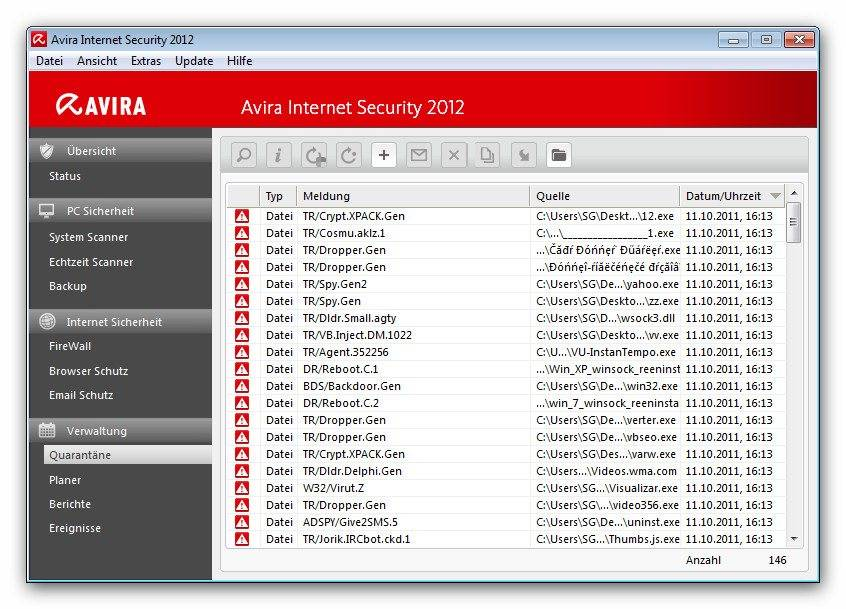 Avira Free Antivirus 2012, fue en su momento conocido como el Antivir