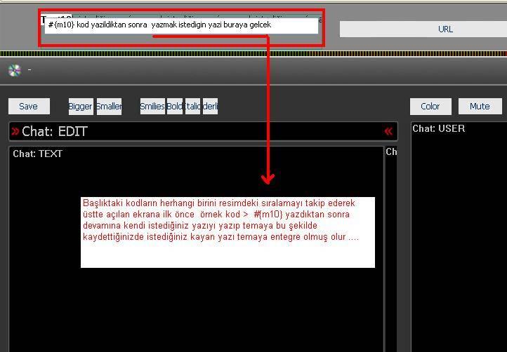 Flatcast F5.3 radyoya kayan yazı eklemek Resimli anlatimi