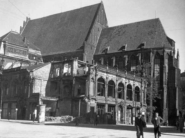Wrocław  1945 Zniszczenia 1