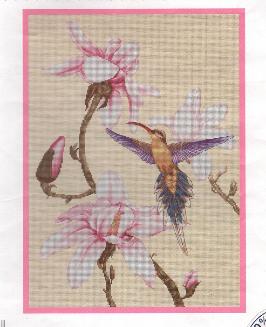 Колибри и цветы.  Вышивка крестом, схемы.  СХЕМА.  Taklis.