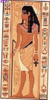 Древний Египет.  Вышивка крестом, схемы.  3976050_1.zip.  Вложение.