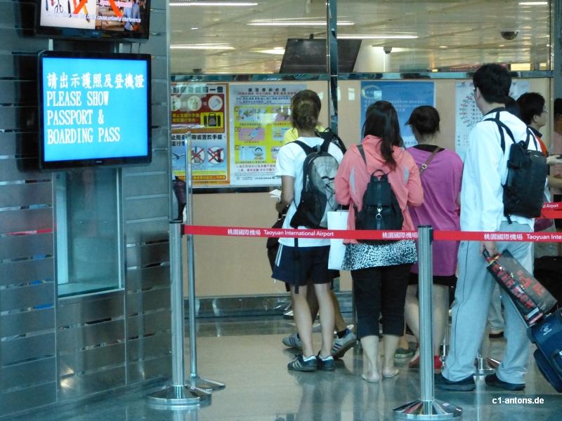 Abschied nehmen von Taiwan